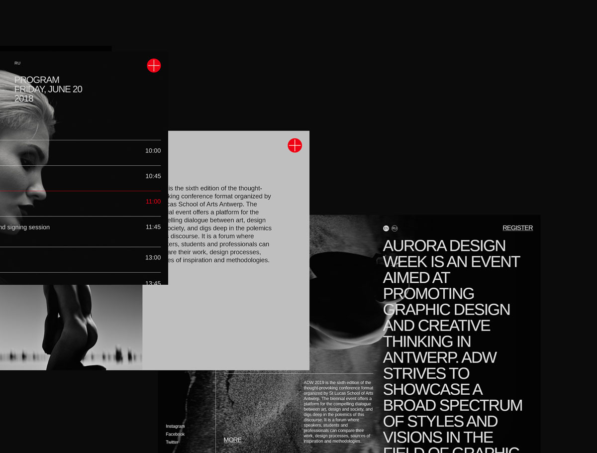 Aurora - Free Web Elements - Appealing web elements, stylish interface, interactive structure — it's all about Aurora. Meant to be a perfect kit for promoting events, it became a design treasure for any project type.