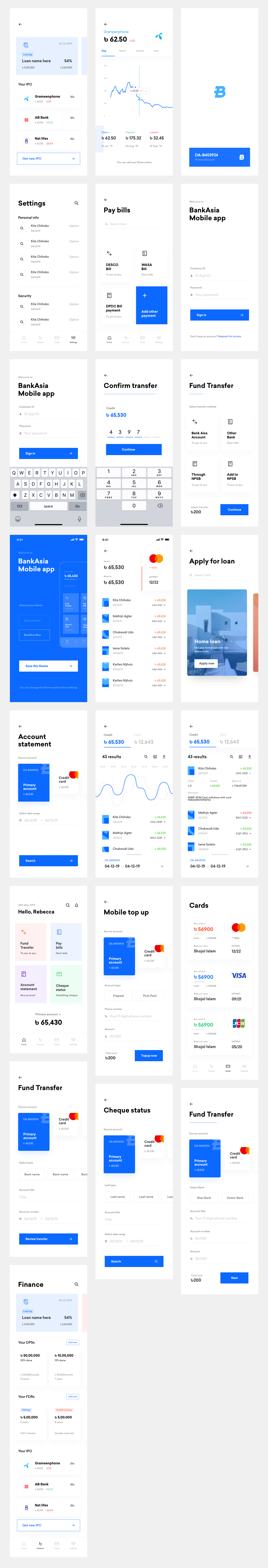 Banking Wallet App Free UI Kit for Sketch - This UI kit can be used for all kinds of online Banking/Wallet app. This FREE UI kit contains 25+ minimal screens designed for iPhone 11 Pro/X.
