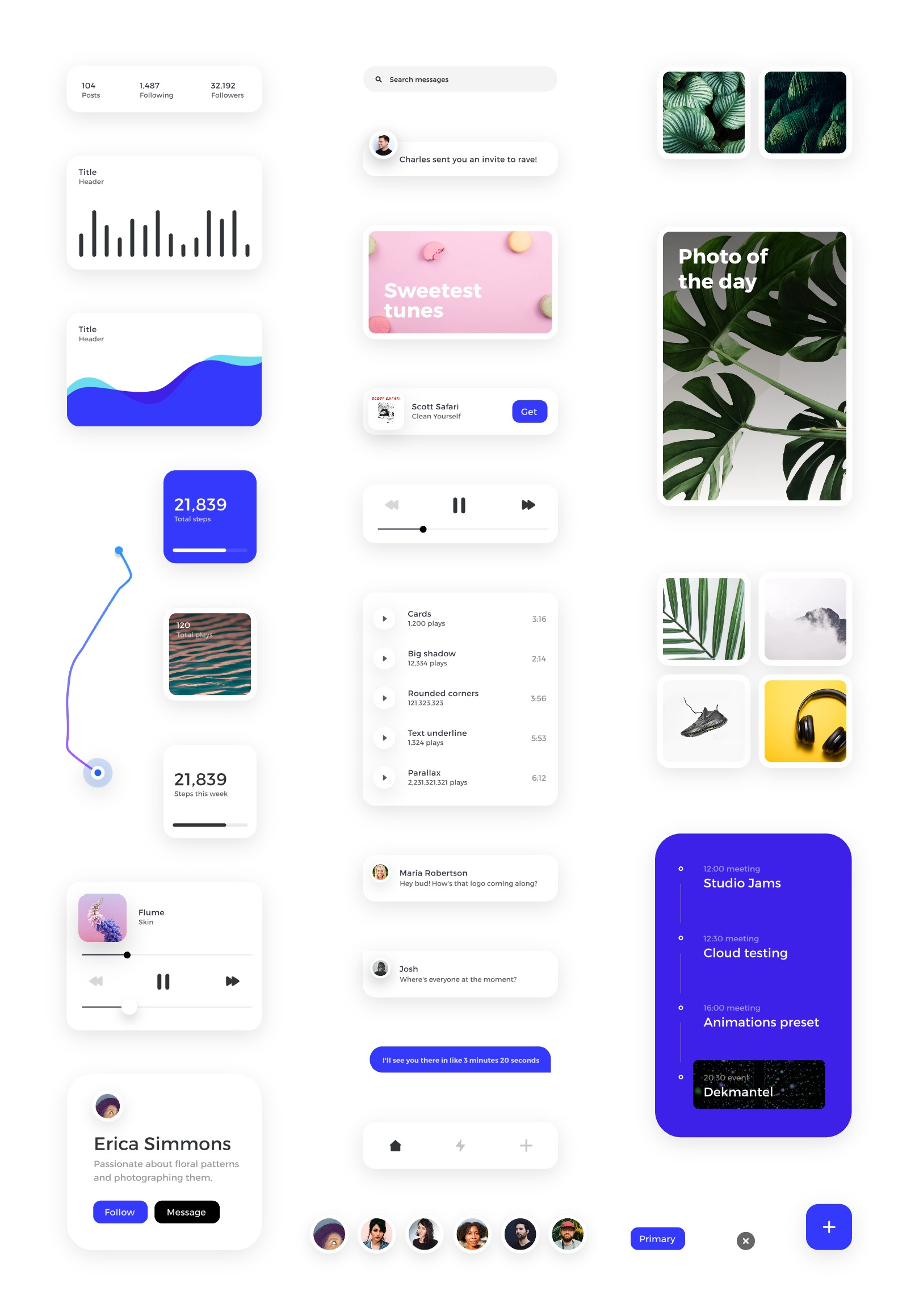 Card - Free UI Kit For InVision Studio - A simple card UI kit. That's it. That's the kit! Designed by Charles Patterson.