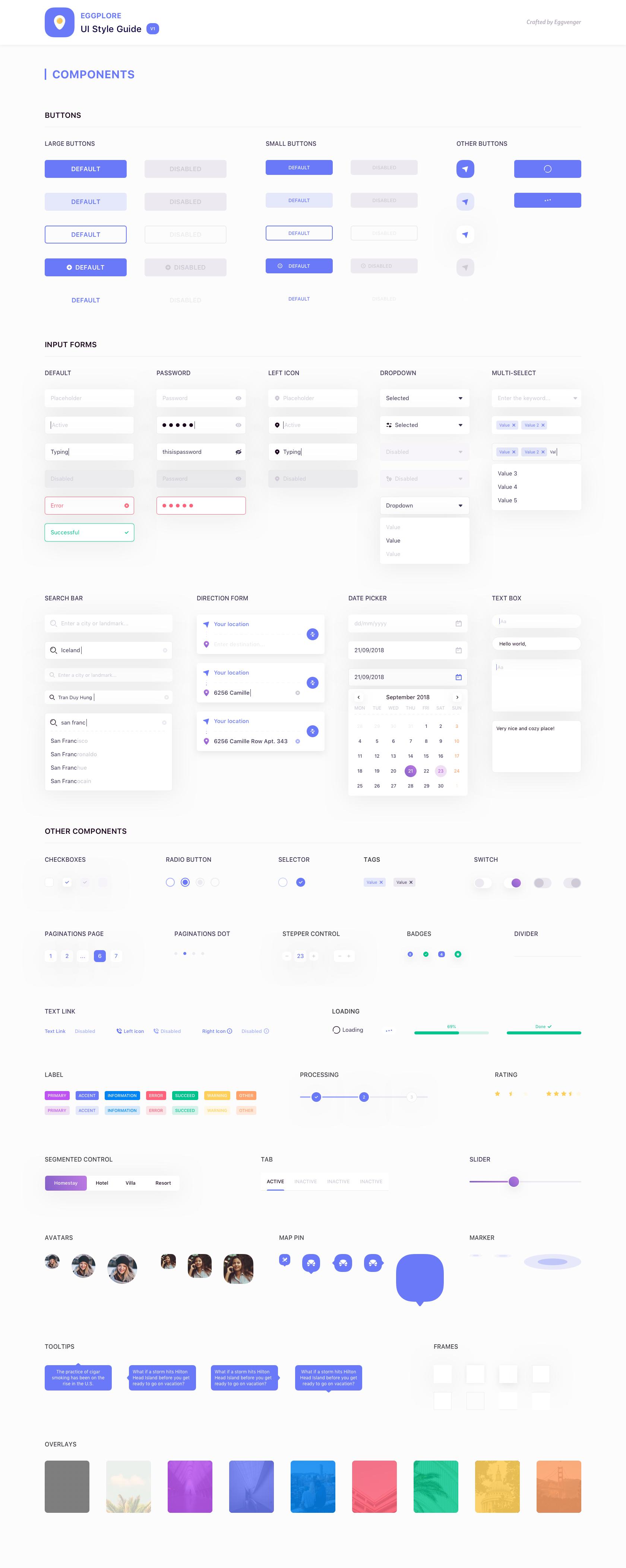 Eggplore UI Style Guide , uistore.design