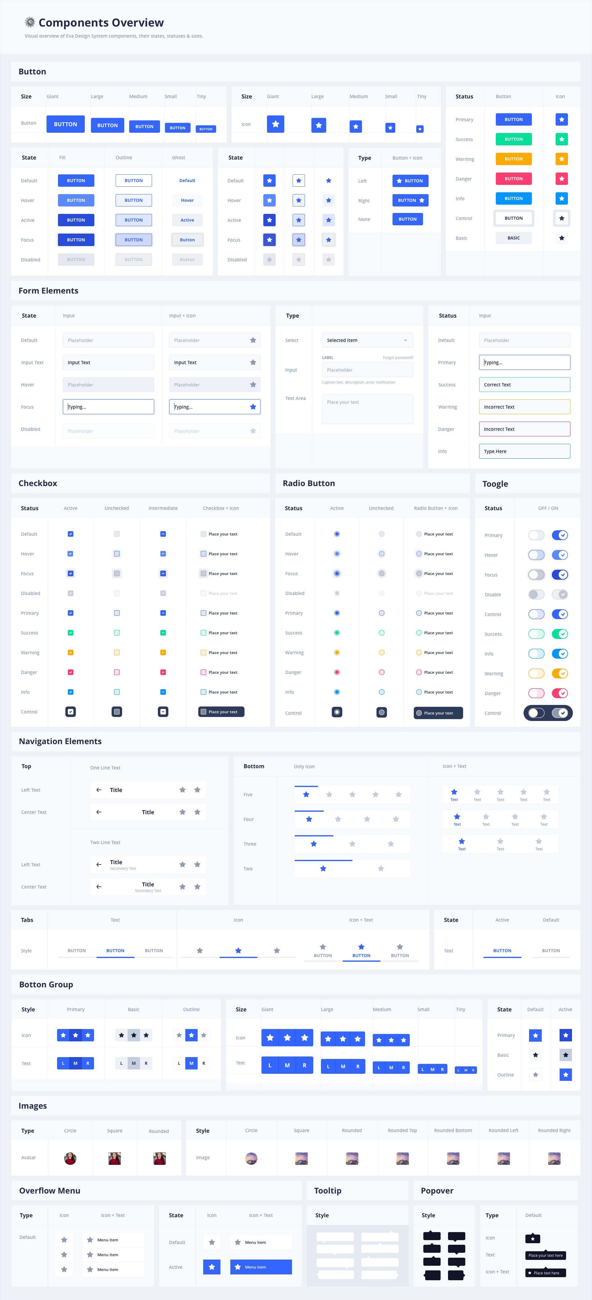 Eva Design System for Sketch - Lapa ninja
