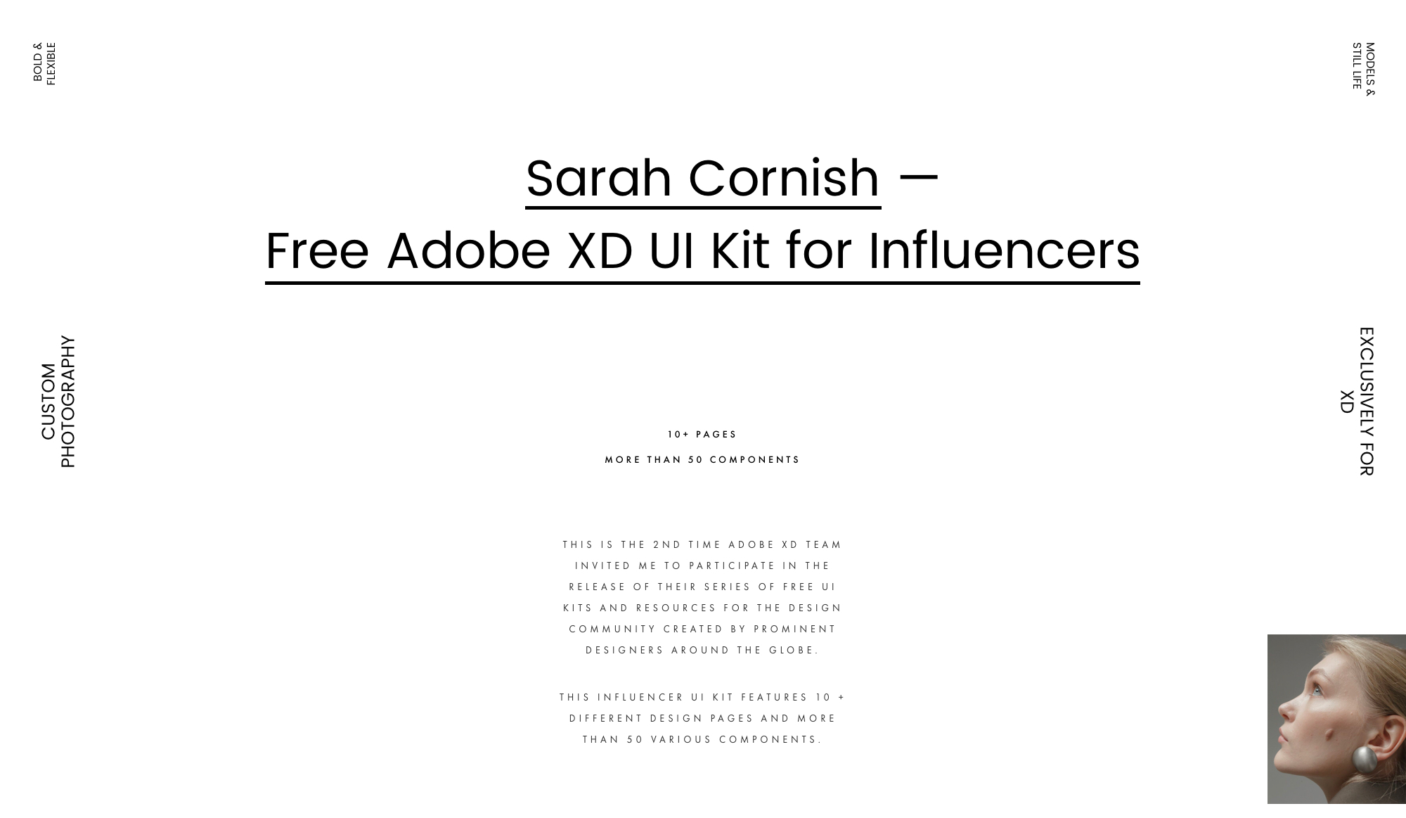 Fashion Influencer UI Kit for Adobe XD - The UI Kit itself is #MadeInAdobeXD and is available for free. It features a ton of goodies for you to use in your next design projects! Don't miss out!