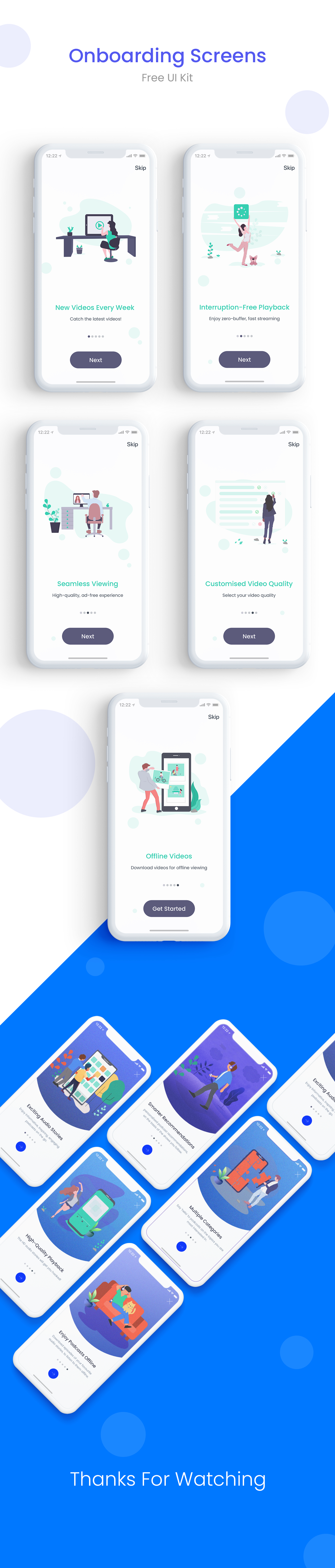 App Onboarding Walkthrough Screens - Elegant and clean illustrations for any kind of app. Easy to edit.