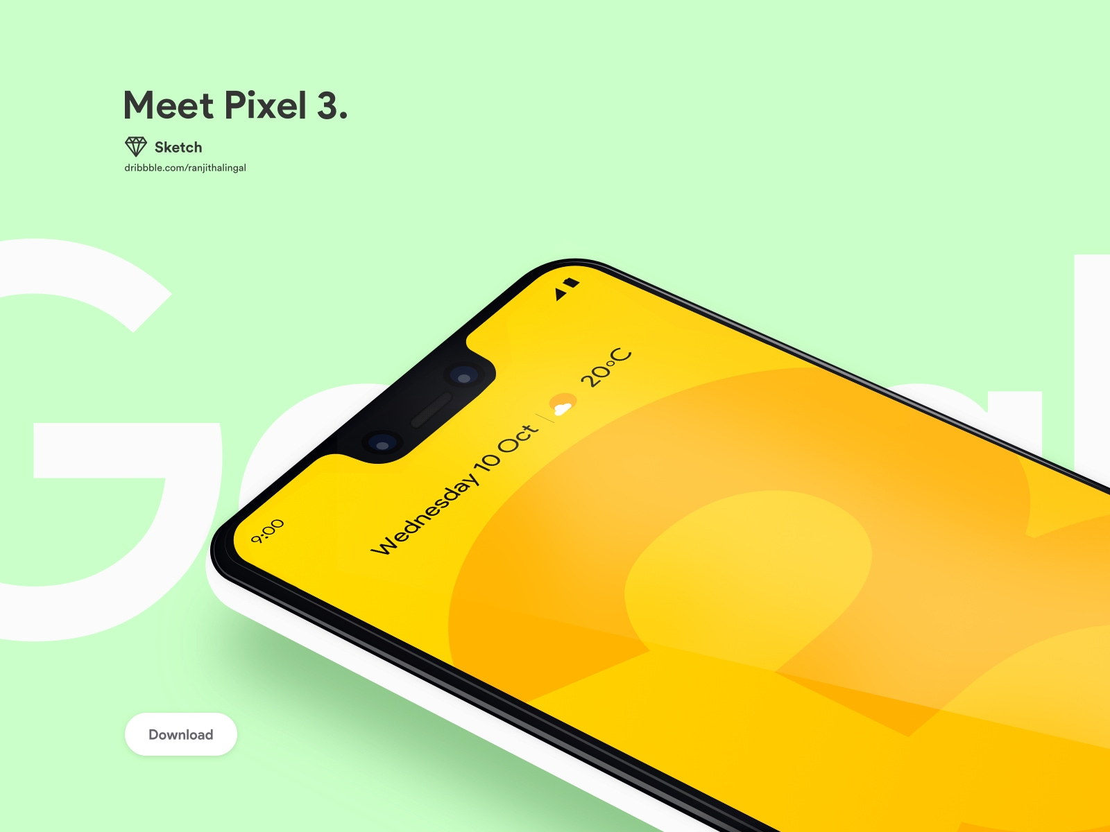 Google Pixel 3 Mockup - Using this free Google Pixel 3 Mockup Sketch file you can showcase your app design, presentation or add your own screenshots easily in Sketch. Pixel 3 Mockup is not only free but also have the premium look which makes your mobile UI design presentation stand out from the crowd!