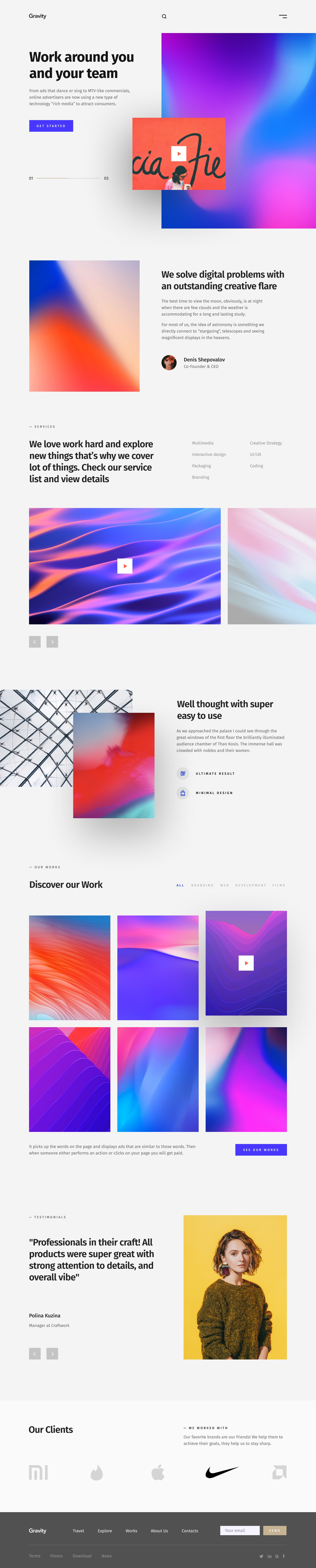 Gravity Agency Portfolio Template - Agency Portfolio Template based on Bootstrap 4 grid
