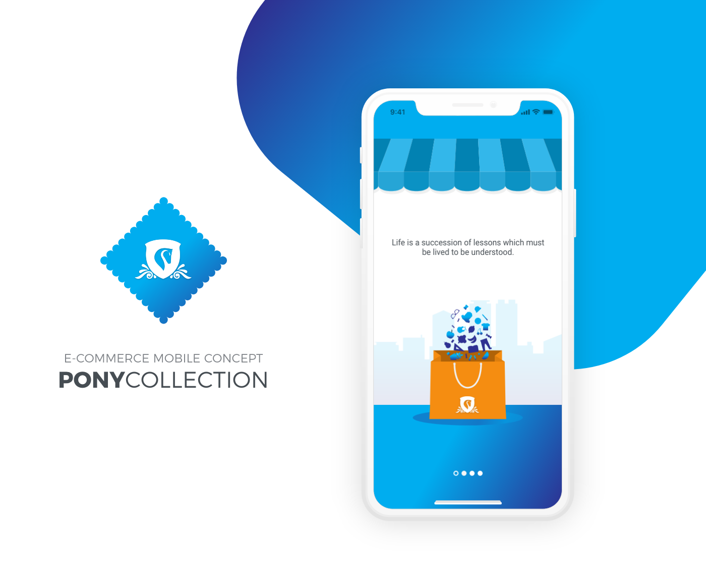 Pony Collection - eCommerce Mobile App - Minimal and clean eComerce app design by Tung Chi Vo