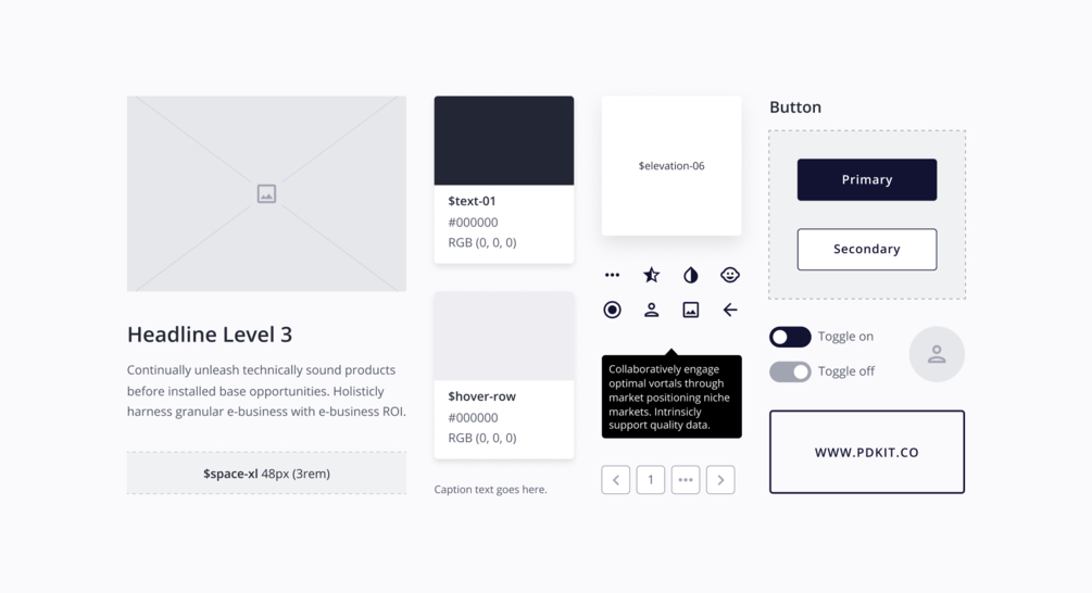 Product Design Kit for Figma - The ultimate design kit for Figma. Create high fidelity wireframes, user interfaces and style guides for your desktop products. It's fully customizable and free.