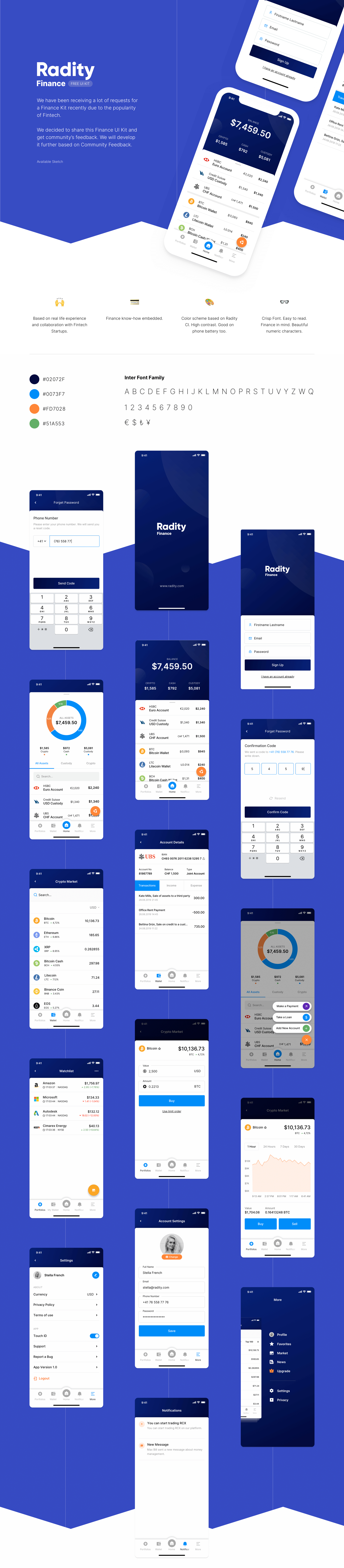 Radity - Finance UI Kit - We have been receiving a lot of requests for a Finance Kit recently due to the popularity of Fintech. We decided to share this Finance UI Kit and get community's feedback.