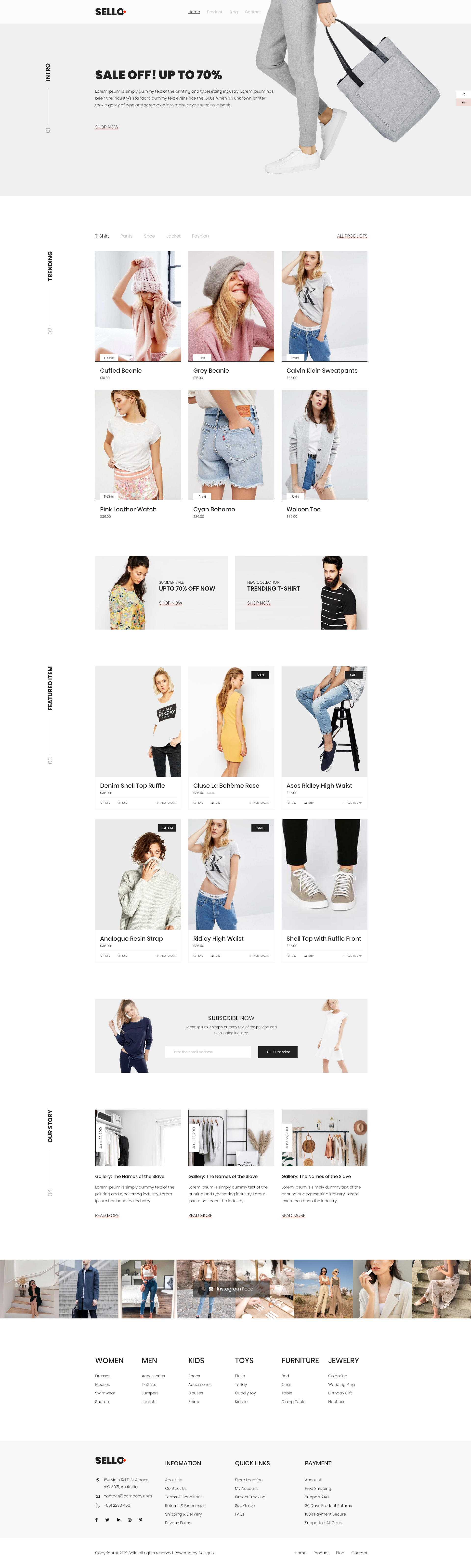 Sello - Mininal E-Commerce Website - Minimal but Creative E-Commerce Template