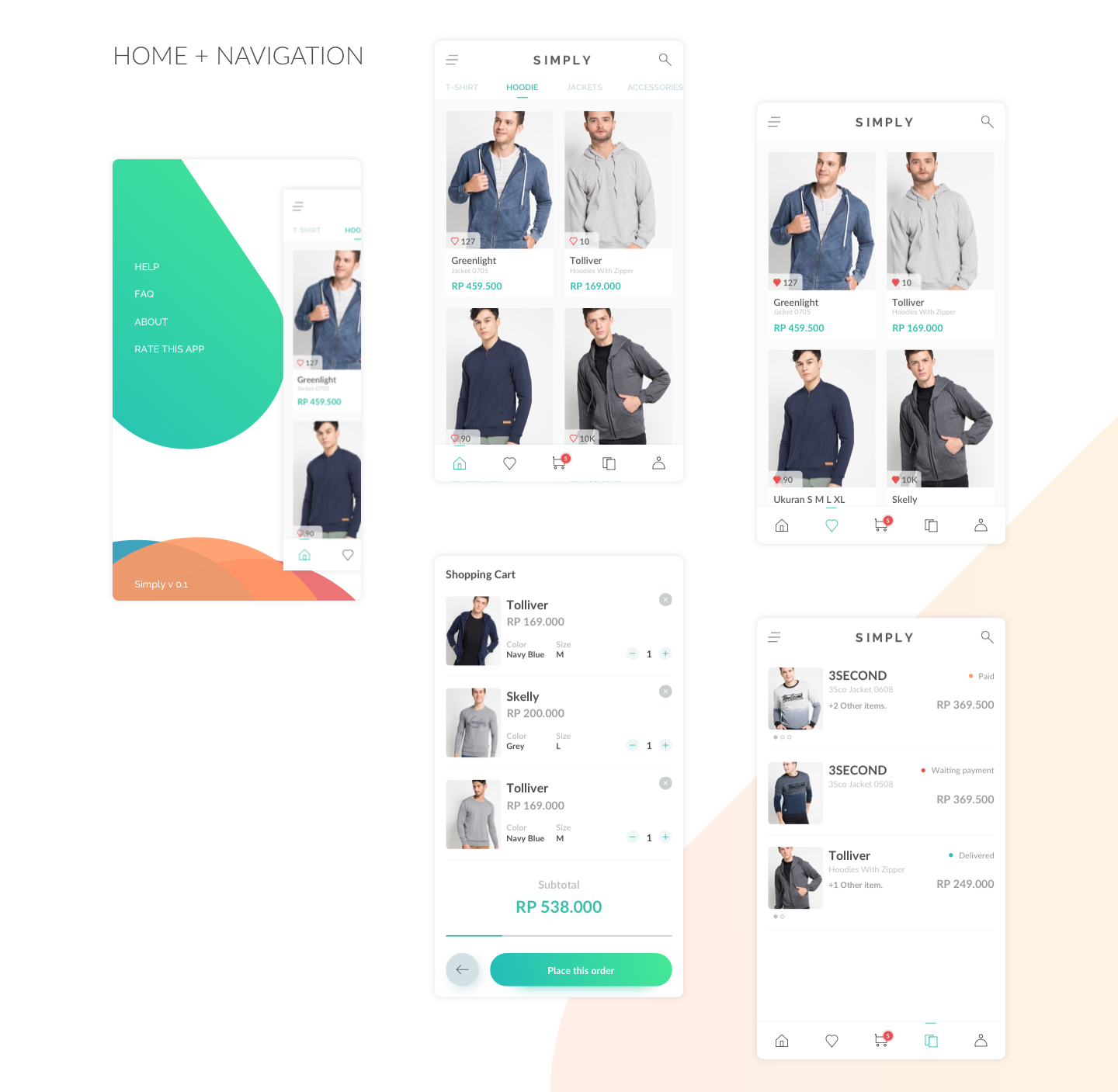 Simply eCommerce UI Kit - Simply is an e-commerce UI Kit. Was crafted especially for small or medium business who want to have e-commerce app.