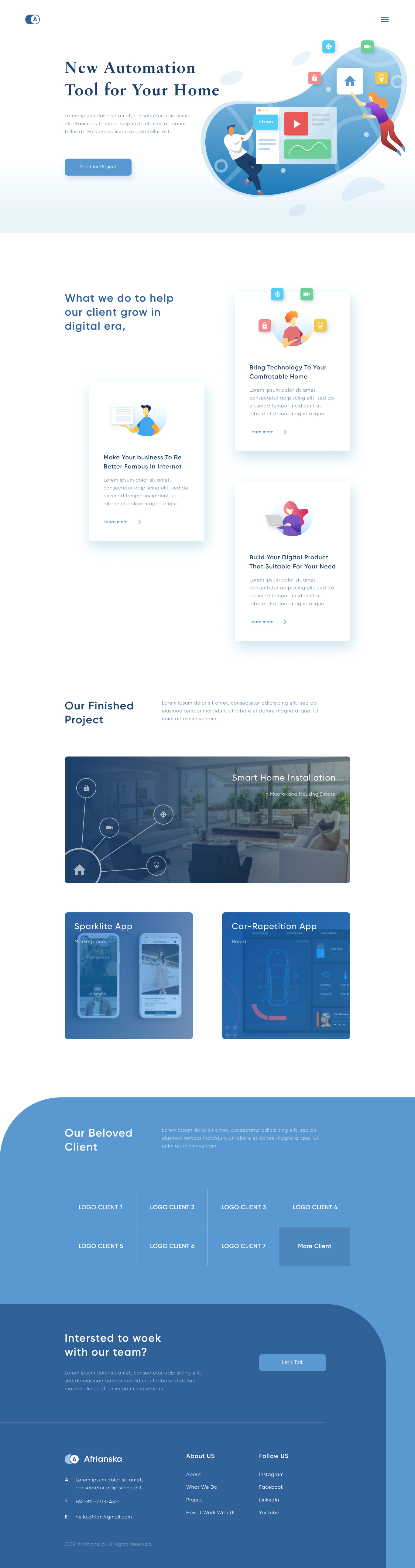 Smart Home Landing Page for Figma - Elegant and clean landing page for smart home.