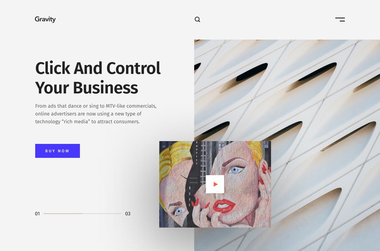 7 Unique Hero Headers - Clean header design by Bakhtiyar Sattarov, 7 screens for you to get started.