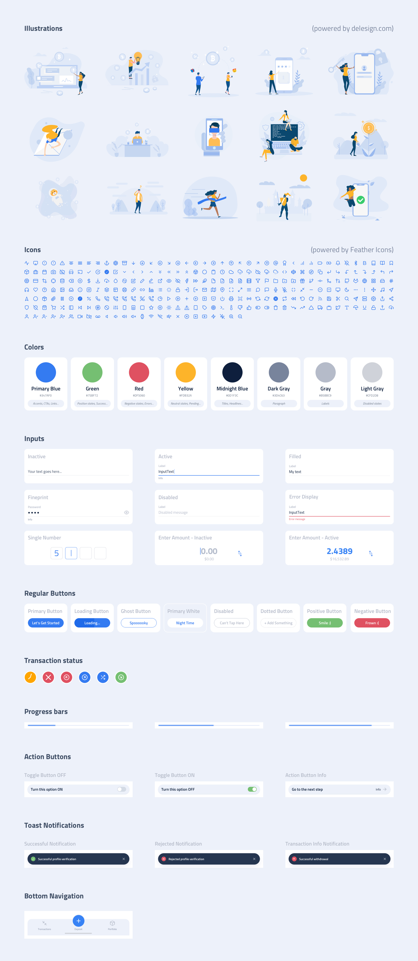 Whollet Crypto Wallet Free UI Kit - A comprehensive crypto wallet UI kit. A completely free resource for product developers / UI designers all over the world who want to use and help develop standardized crypto wallet interactions and design patterns.