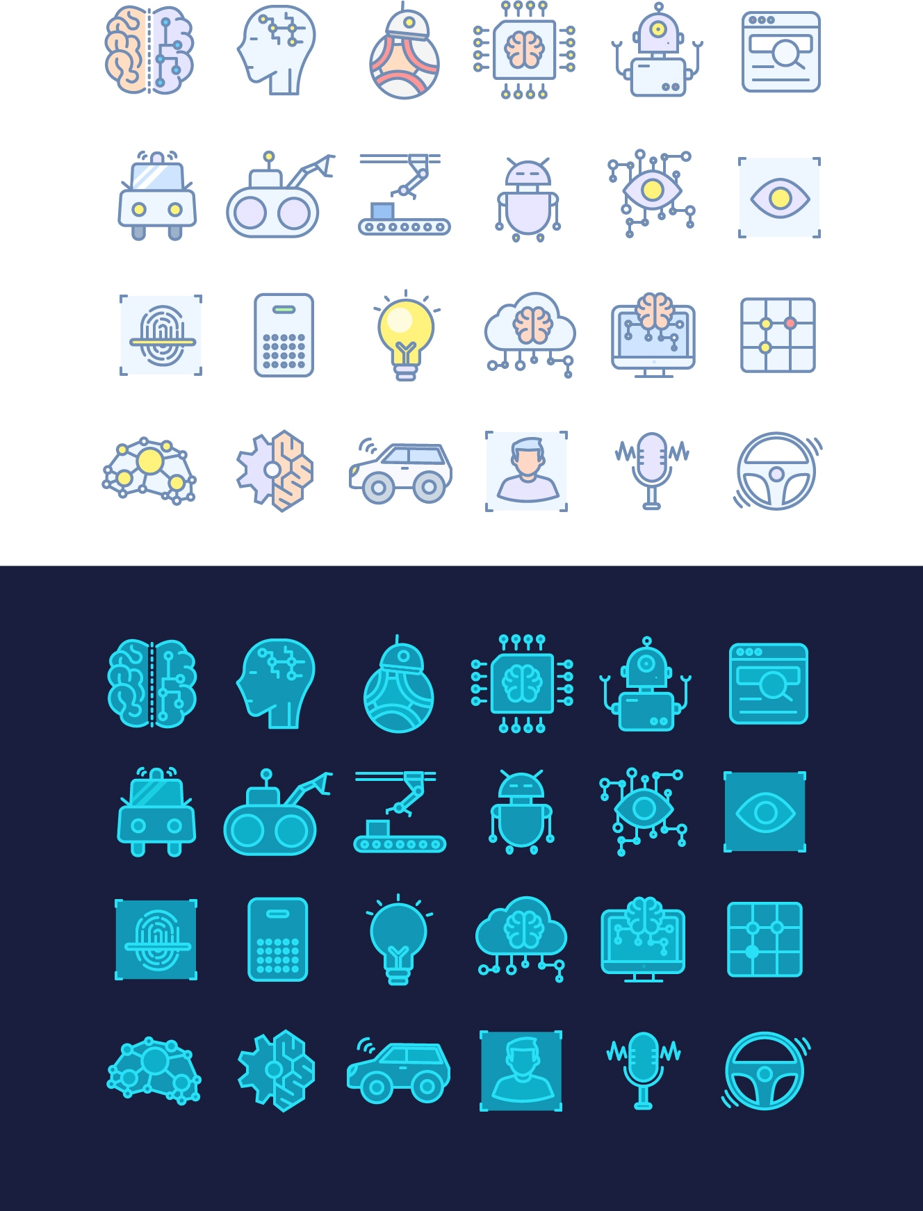 AI Free Icon Set by Xiaojianjian - Free icon set designed by xiaojianjian, with 2 icon styles.