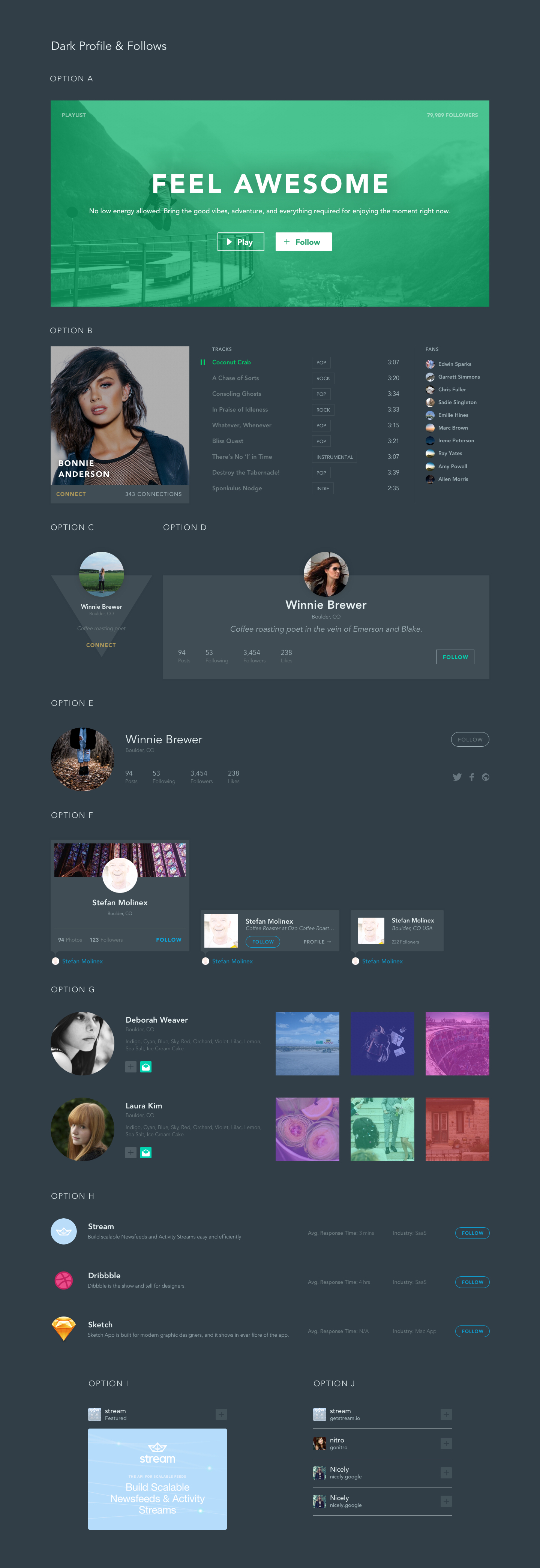 Based Feed UI Kit for Sketch - A versatile and comprehensive Feed UI Kit for Sketch. If you're looking to jumpstart your design with notifications and social feeds, this is the way to do it. Whether you want to build a feed like Twitter, Instagram, Spotify or Facebook's we have you covered with this UI Kit. We implemented designs that are minimalistic and ready to be easily customized.