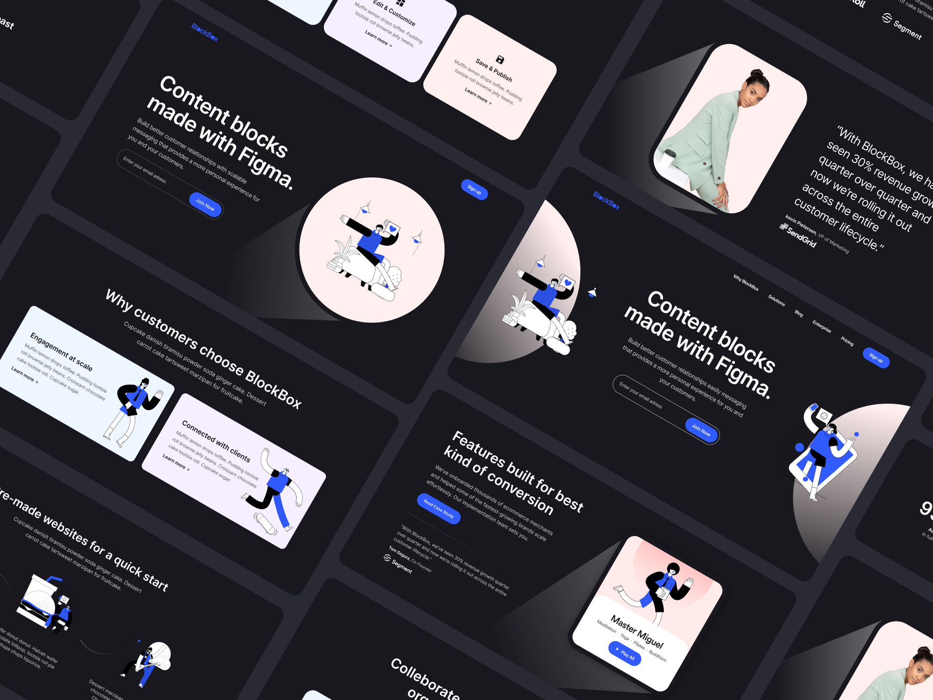 Blockbox Wireframe UI Kit - Elegant and clean template for any kind of project.