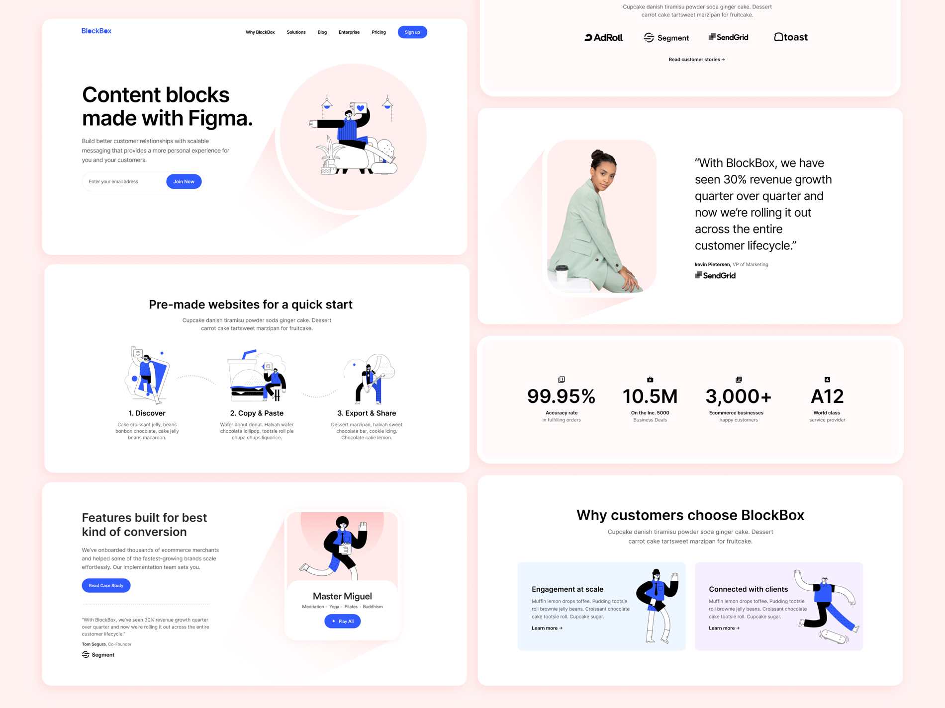 Blockbox Wireframe UI Kit for Figma - Elegant and clean template for any kind of project.