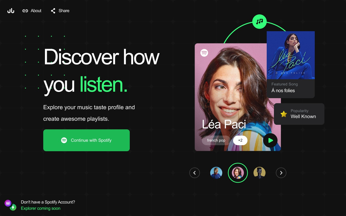Cruuunchify for InVision Studio - Cruuunchify is a new way to discover how you listen to music, built on Spotify's public API for Spotify users. The design for this project was made entirely in InVision Studio. Feel free to download, remix and re-use.