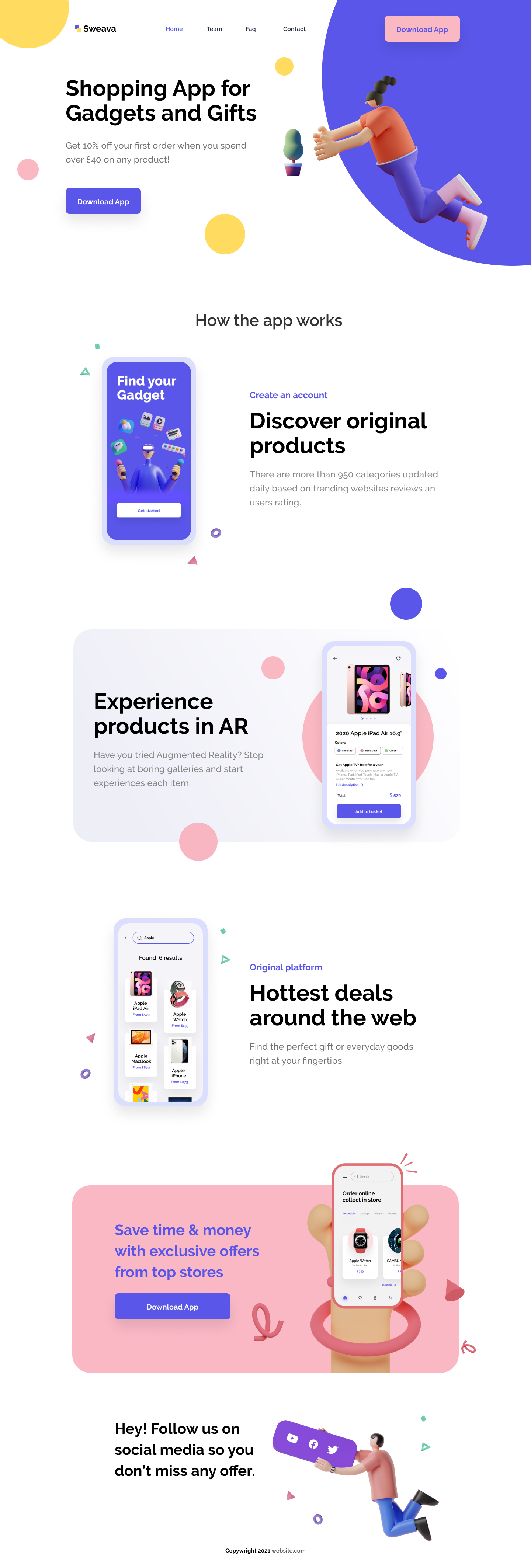 eCommerce Free Landing Page - Clean and clear landing page with necessary stuff to create a new design projects.