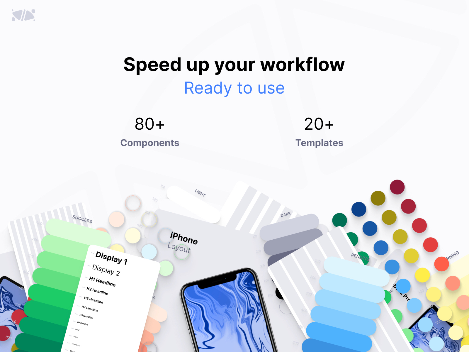 EXO KIT Design System for Figma - EXO KIT is a huge library: typography, colors, buttons, cards, fields... It meets all your needs to create your design system! This UI kit is free for personal project and it works with Figma.