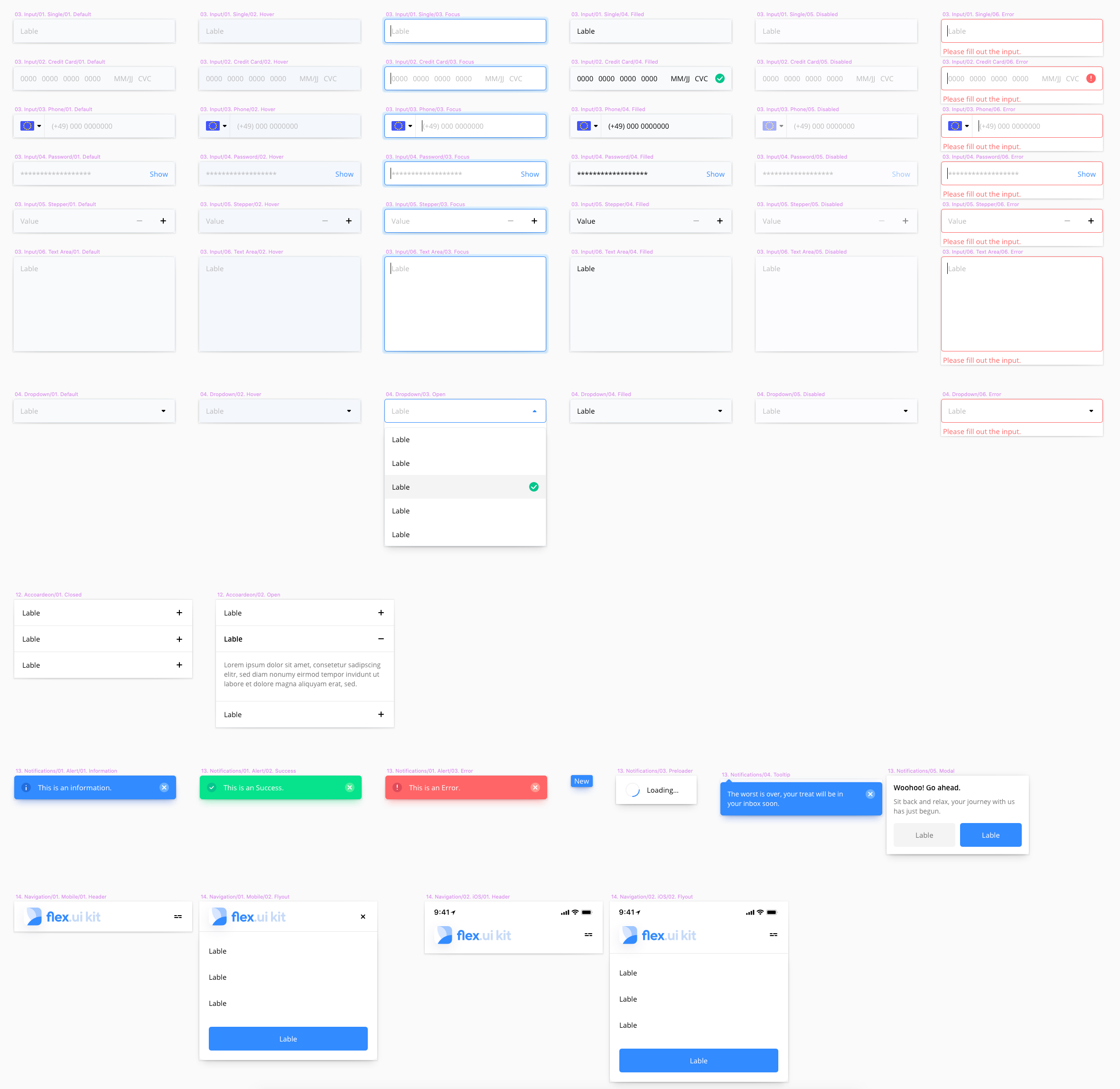 Flex UI Kit for Sketch - I have built a mobile UI Kit Library and completely structured it with easy style control. You can use this Kit for all commercial and non-commercial projects.