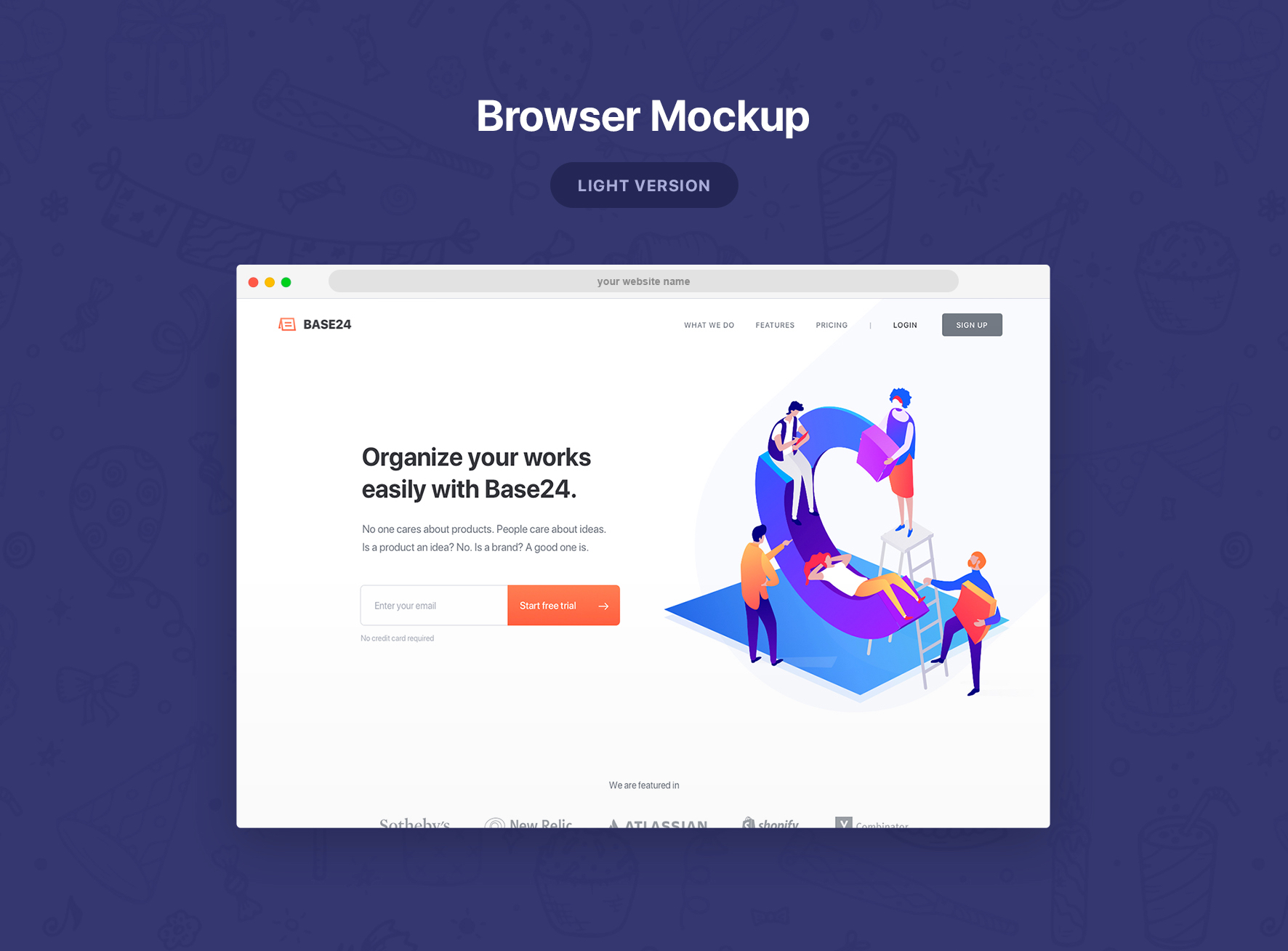Safari Browser Mockup - Present your website in beautiful browsers. PSD and Sketch files included.
