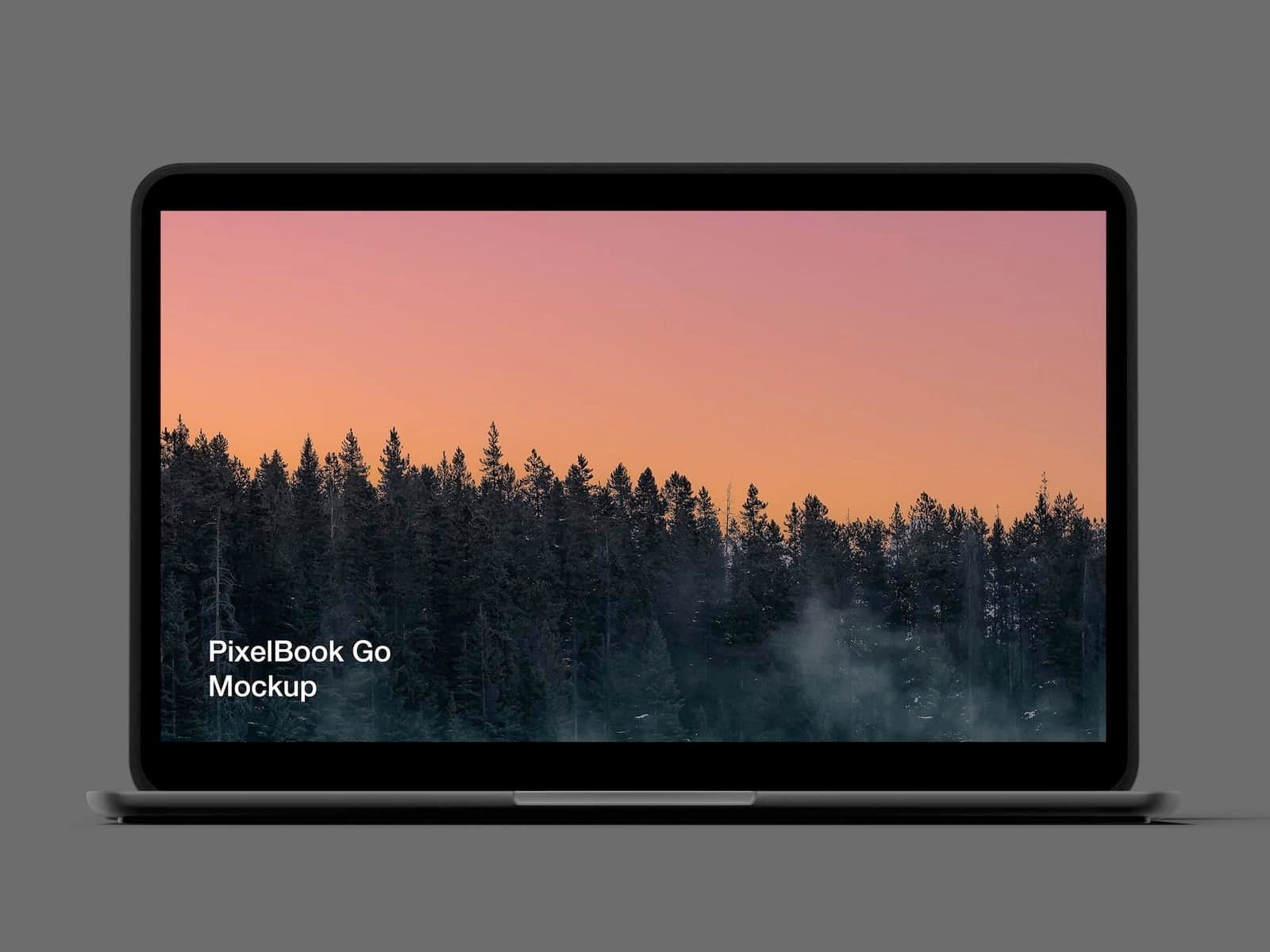 Free Pixel 4 and Pixelbook Go Mockup - Meet high resolution PixelBook Go and Pixel XL 4 mockups in black color.