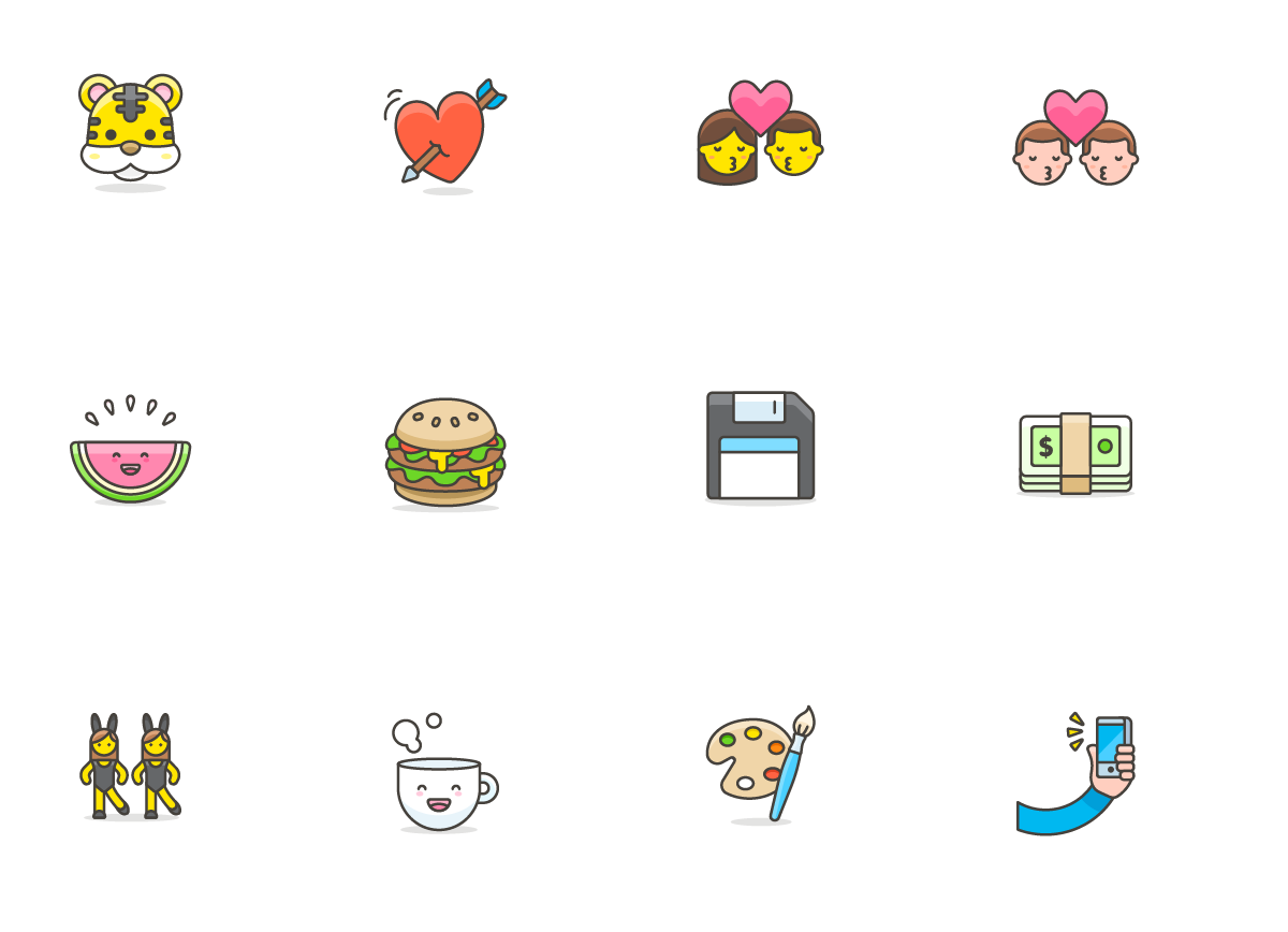 780+ Streamline Emoji - A free collection of cute emoji. Made by Vincent Le Moign