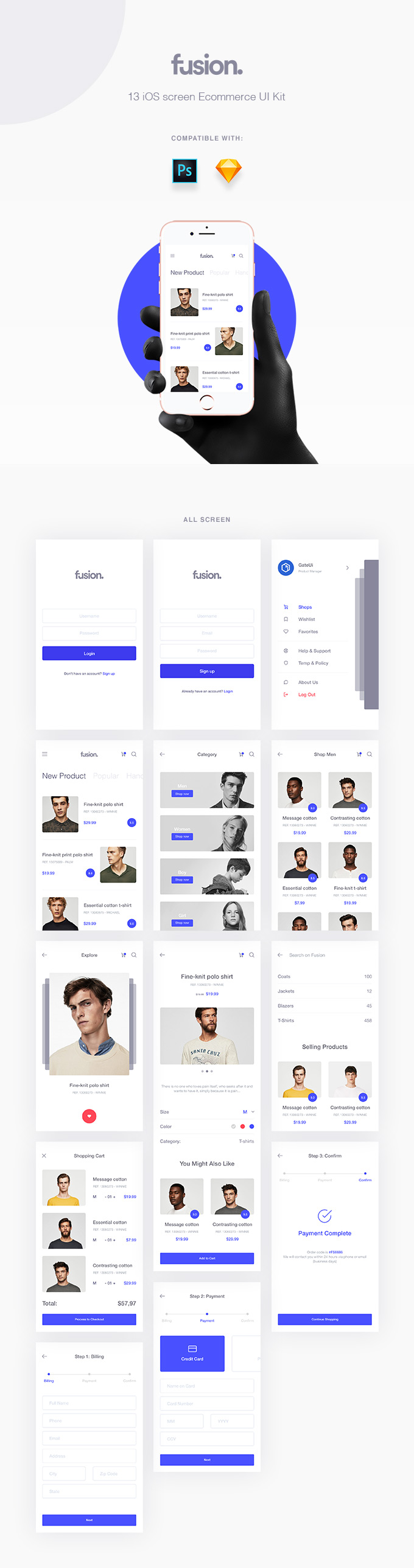 Fusion eCommerce UI Kit - Get ready for something absolutely fresh for your E-commerce app
