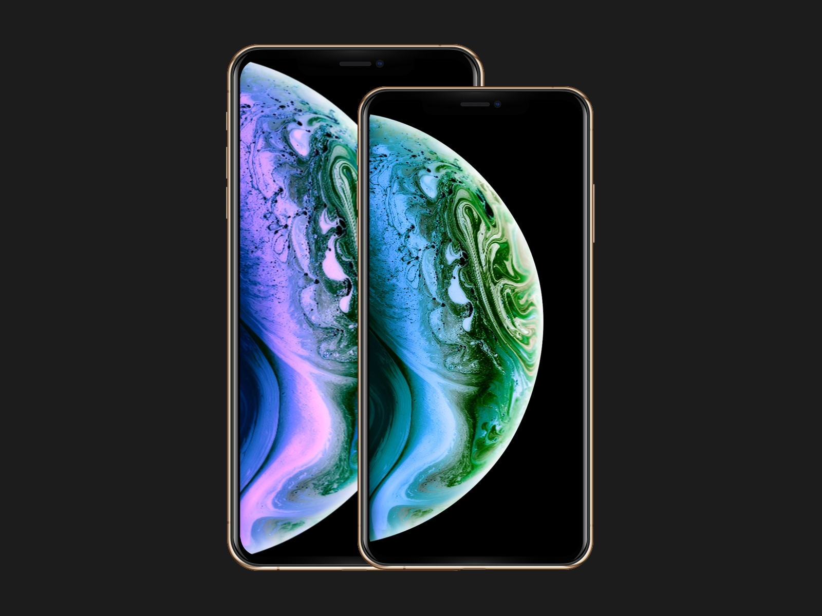 iPhone XS/Max Mockups - Fully-vector based screen mockups for iPhone XS/Max with all the color variants