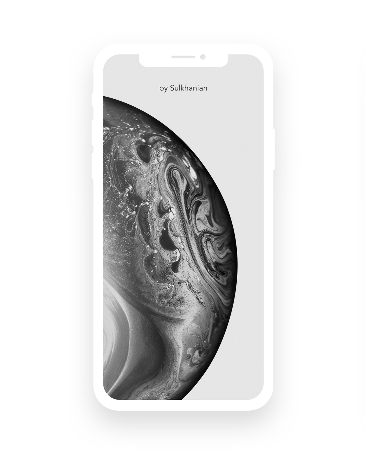 iPhone XS Super Flat Mockup - There is 3 versions: white, dark gray and dark blue