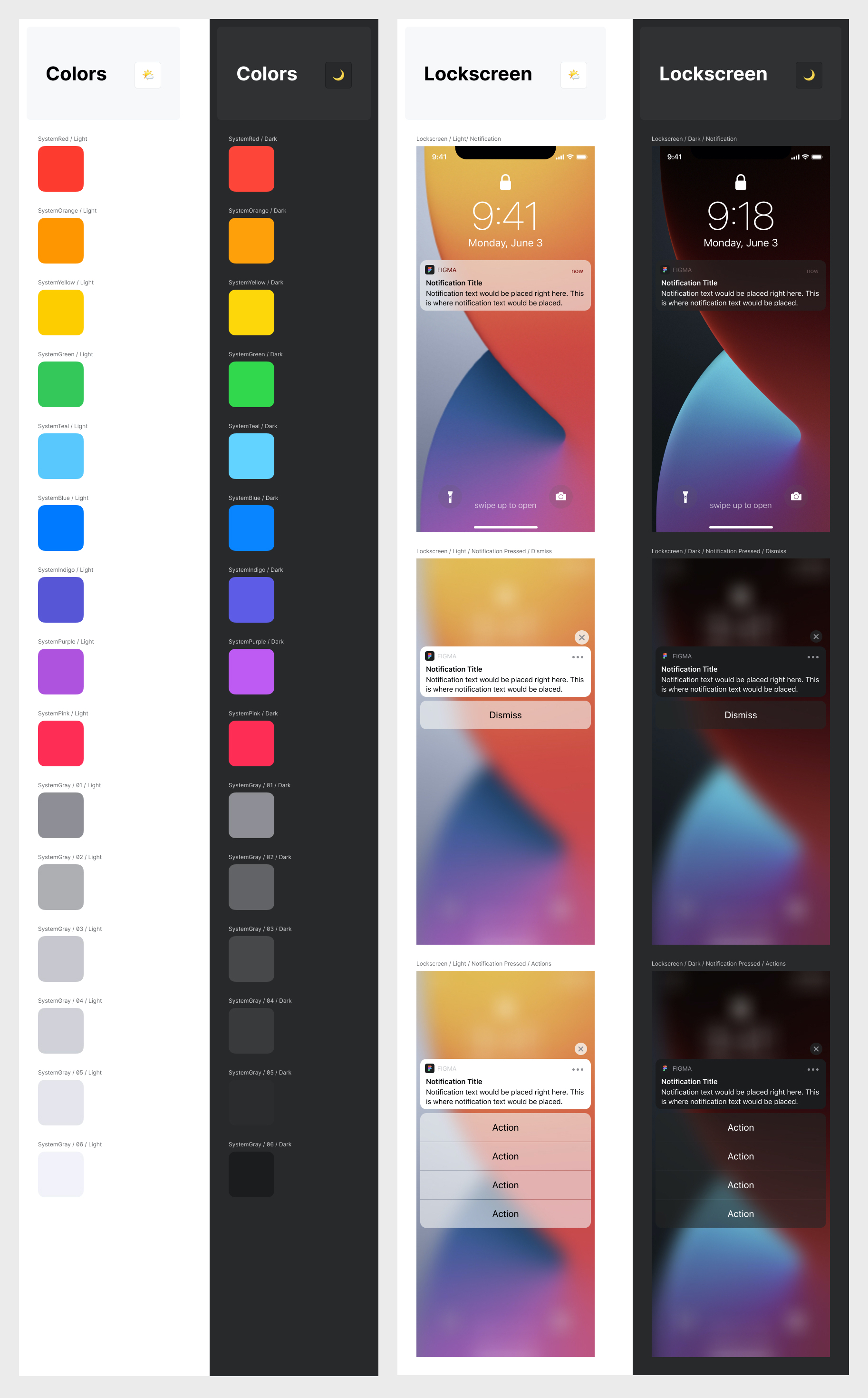 iOS/iPadOS 14 Free UI Kit for Figma - I found myself frequently trying to locate many misplaced common iOS/iPadOS system-level interface elements, so decided to build and collect them all in one place. All of the elements here are named for easy instance-swapping, have constraints applied, and use auto layout where appropriate.