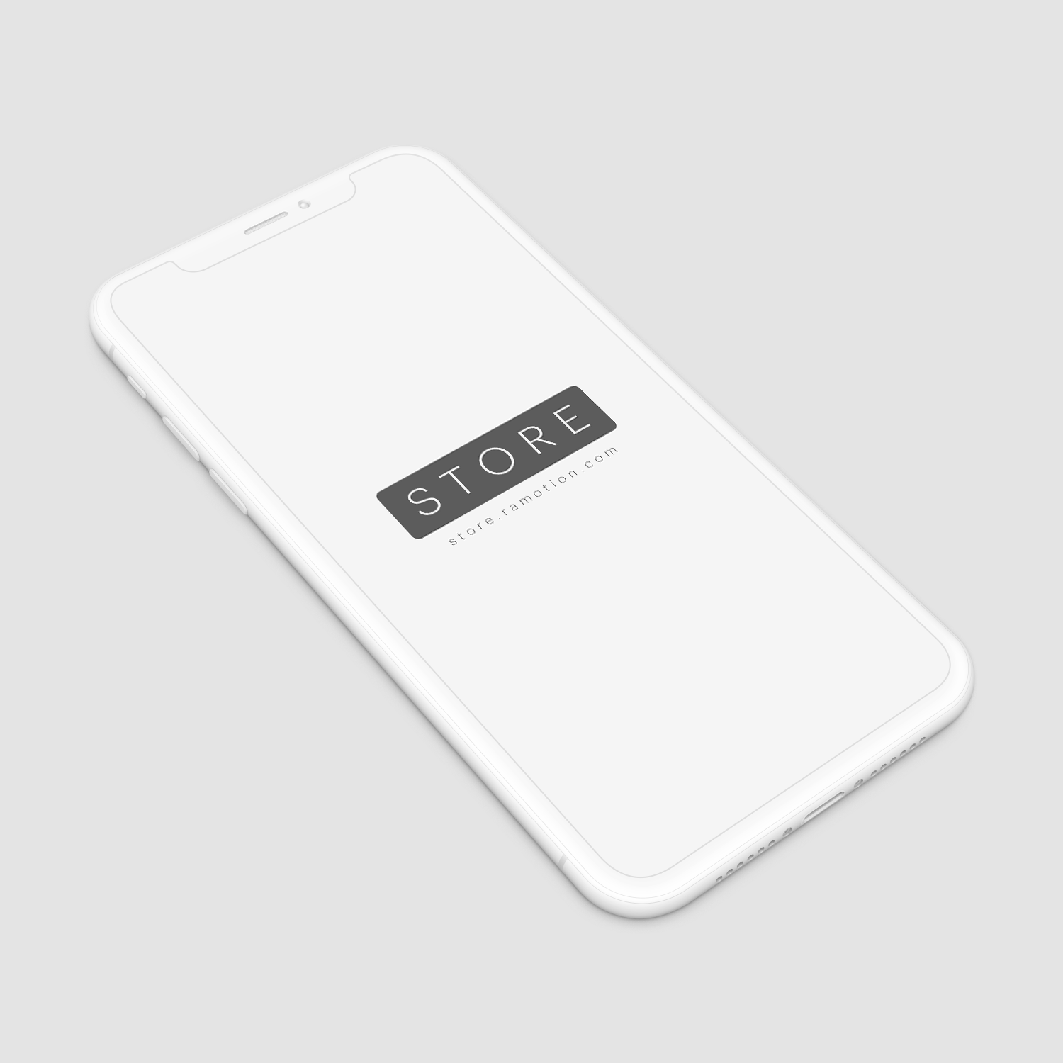 iPhone X Clay - White Perspective Mockup by Ramotion