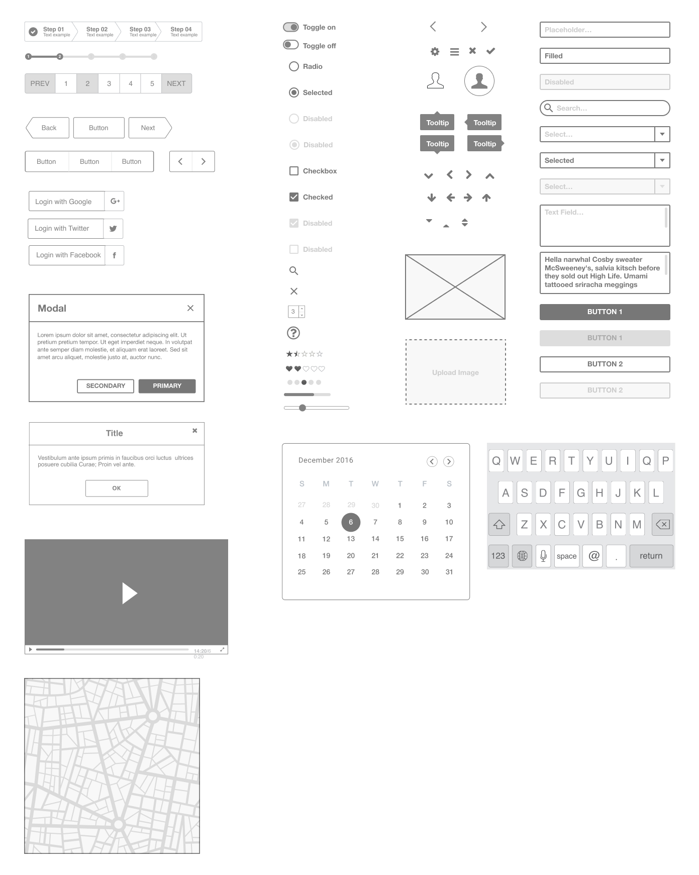 Ironhack Free Wireframe UI Kit for Figma - Use this wireframe kit to make your first steps as a UX/UI Designer using Figma. This kit contains useful bits and pieces, UI elements, and Interface components to rapidly build your designs, convey your ideas or test.