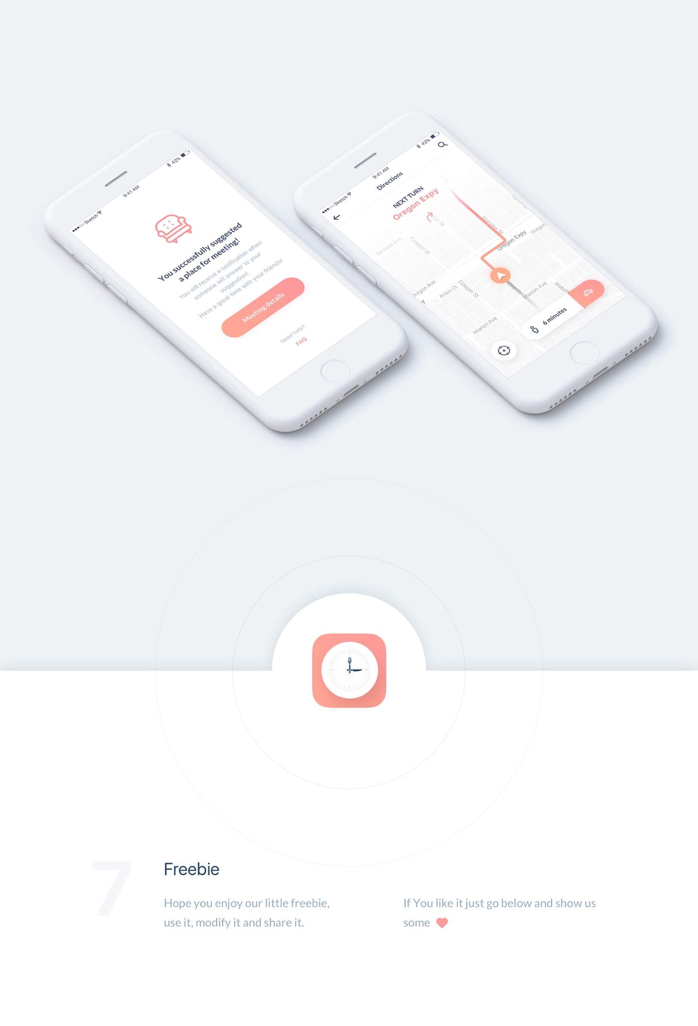 LunchTime - Mobile App Design - Clean, minimal and pixel perfect iOS mobile app design