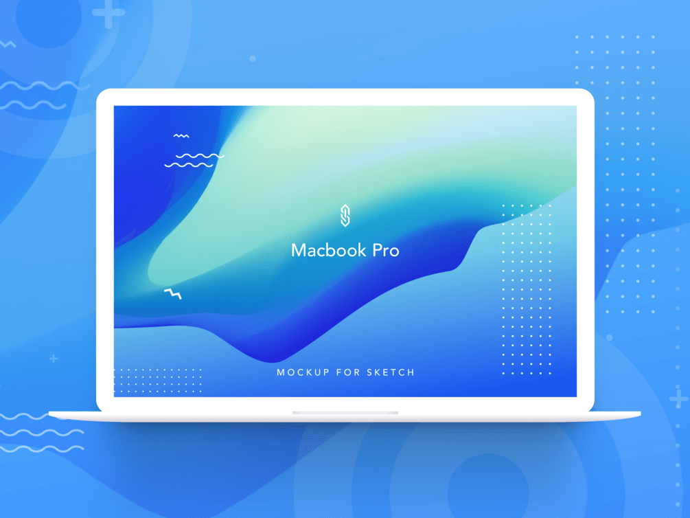 Macbook Pro Mockup - Macbook pro mockup for XD, Sketch and Figma. Mockup system made with sketch symbol.