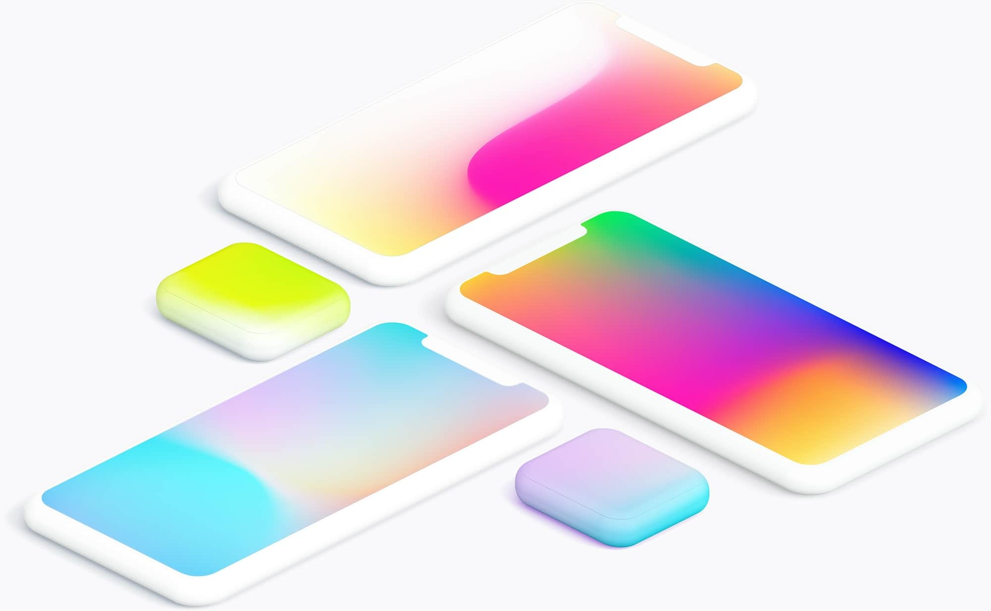 Mesh Gradients Collection - 100 mesh gradients in .sketch, .png, .ai, .jpg, .eps. Download and use in your commercial and personal projects.
