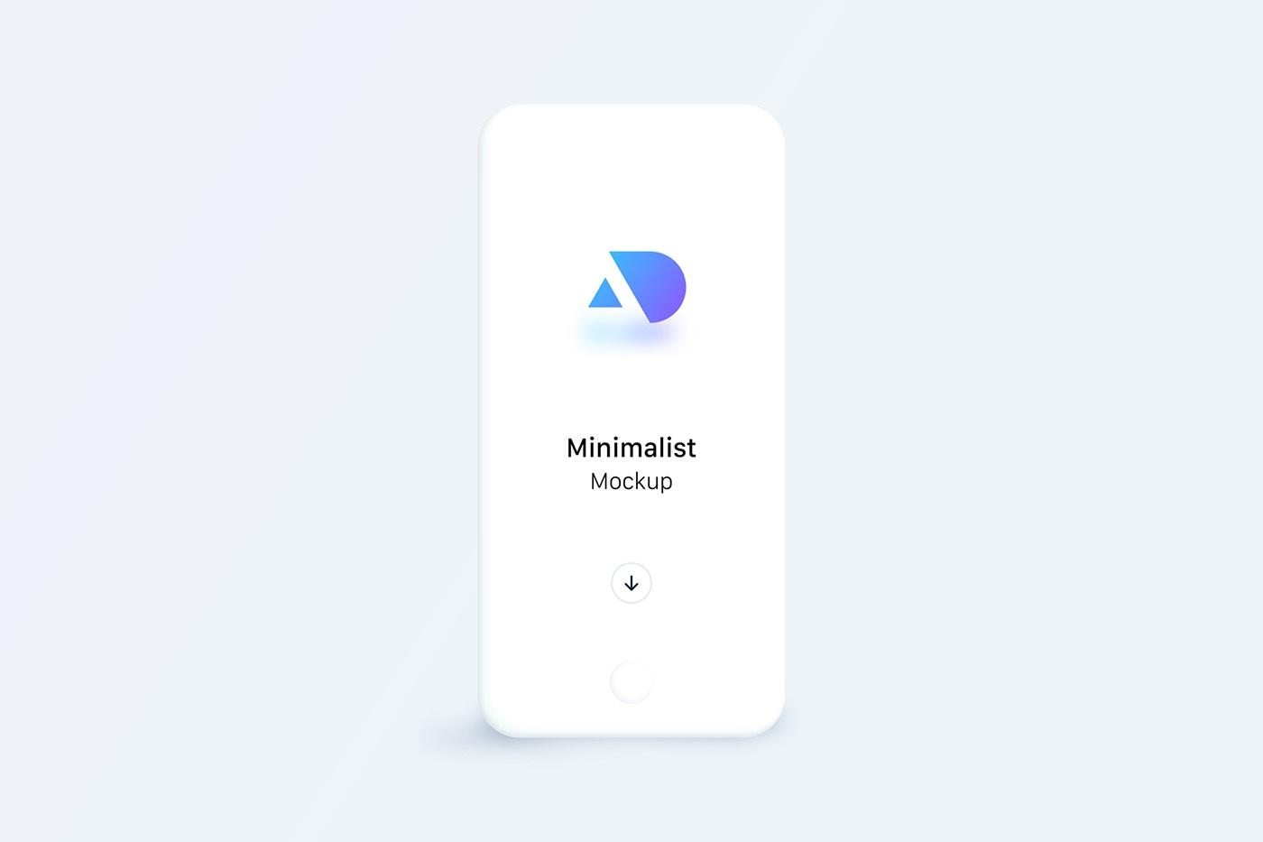 Minimalist Phone Mockups - uistore design