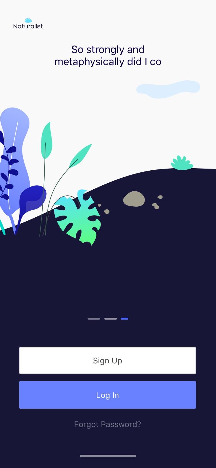 Naturalist Onboarding Freebie - Minimal and clean app design, includes 3 screens