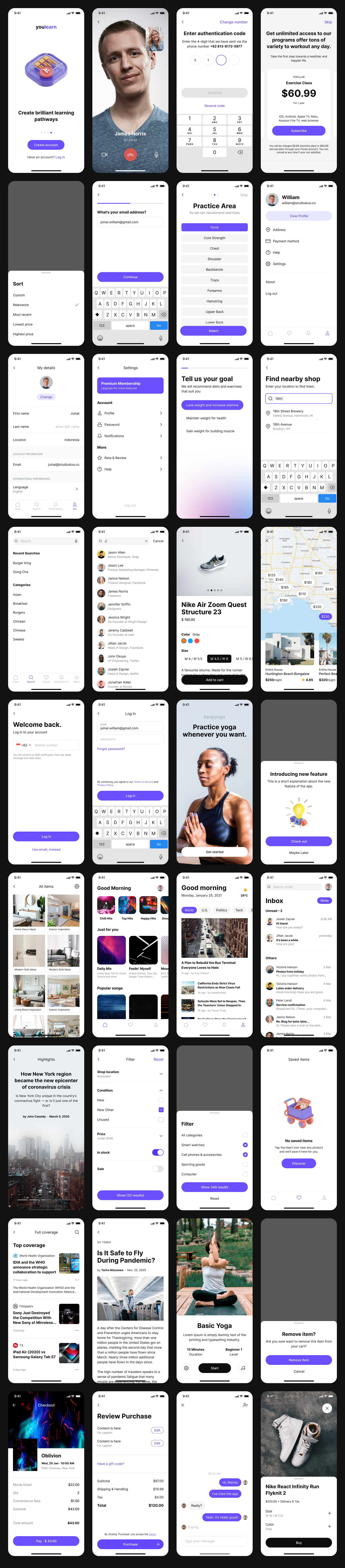 Nucleus Free UI Kit for Figma - Create mockup or prototype in Figma at speed. Nucleus is a free UI component library that provides you the building blocks you need to design your next mobile app.