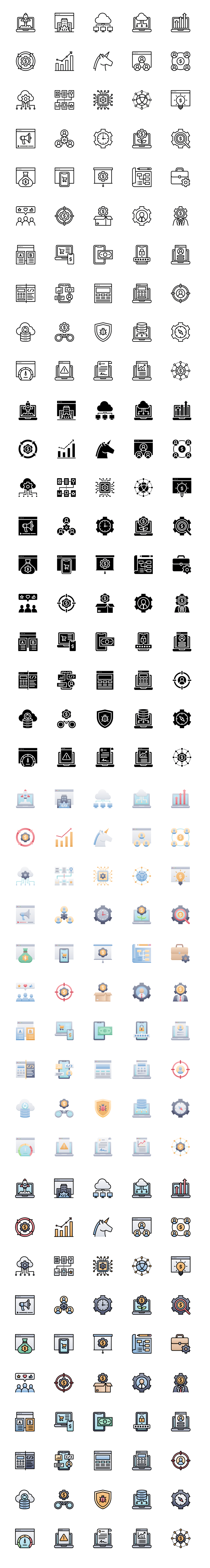 50 Startups and SaaS Free Icons - Icons for startups, SaaS, ecommerce, technology, and the digital world, all available to download and use for free for anything.