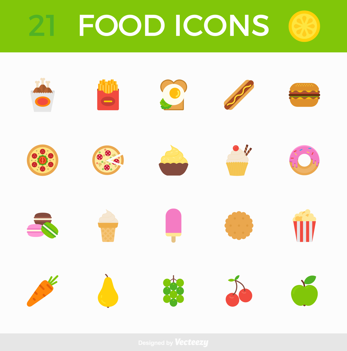 Tasty Food Free Icon Pack - 21 free, tasty food icons for your next product design project