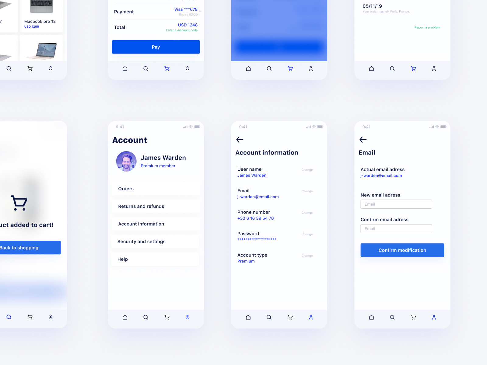 Tech Marketplace UI Kit for Figma - It's a tech-oriented marketplace with modern UI design.