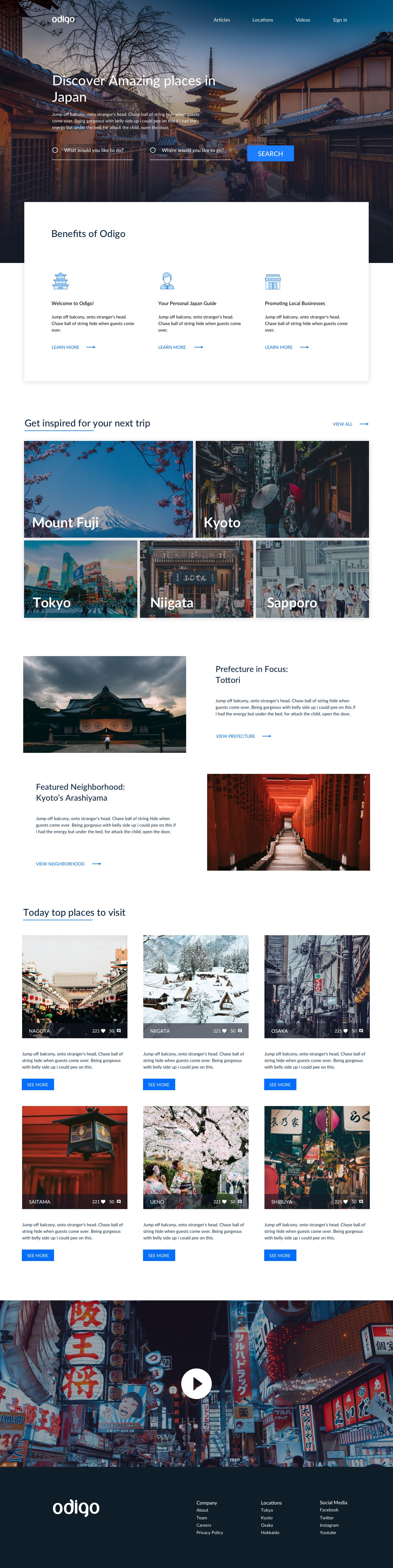Travel Landing Page - Clean landing page design by Jacob Voyles