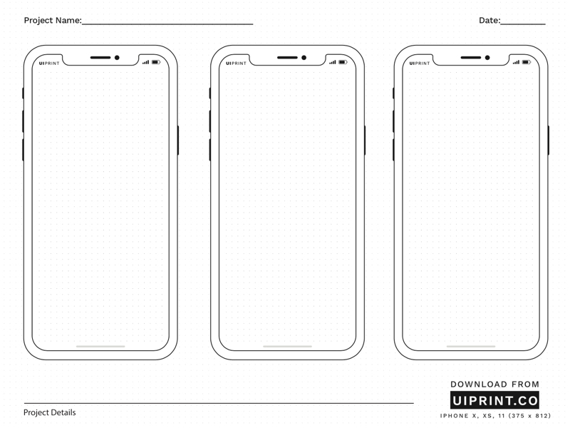 Uiprint Printable Mockups And Sketchpads Uistore Design