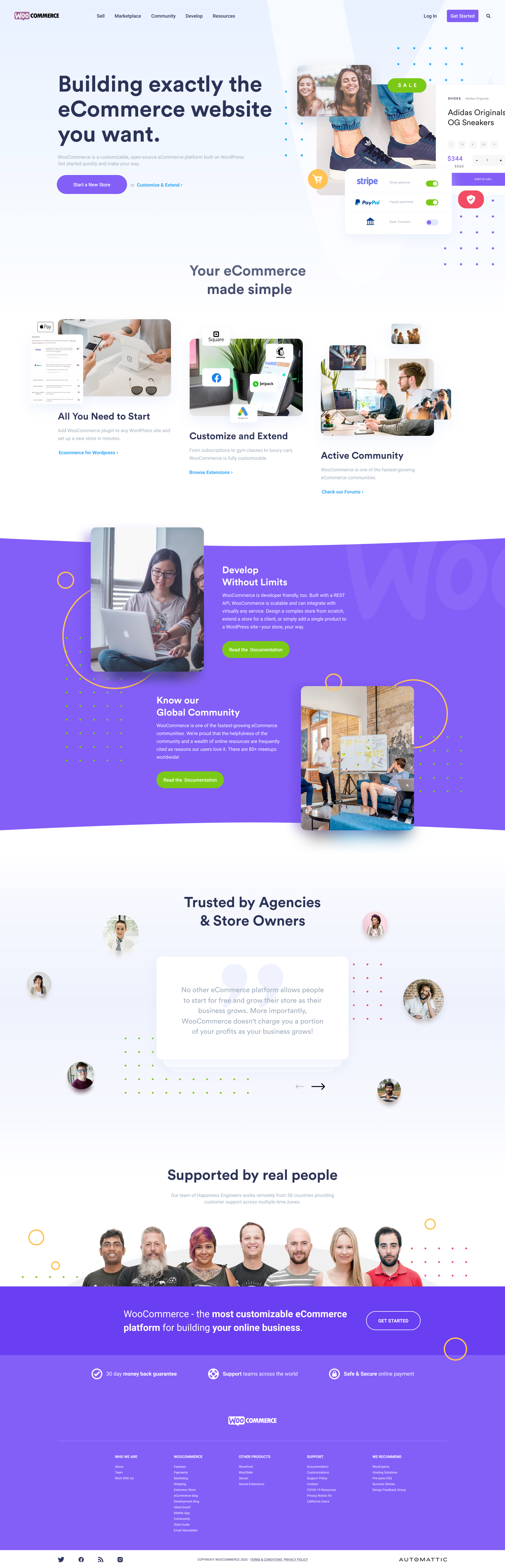 Woo Landing Page - Elegant and clean landing page design for WooCommerce. Modern & clean look.