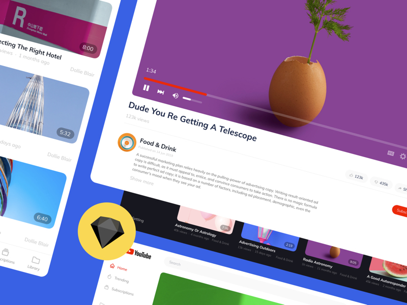 Download 252 free UI Kits for Adobe XD, Sketch, Figma, InVision